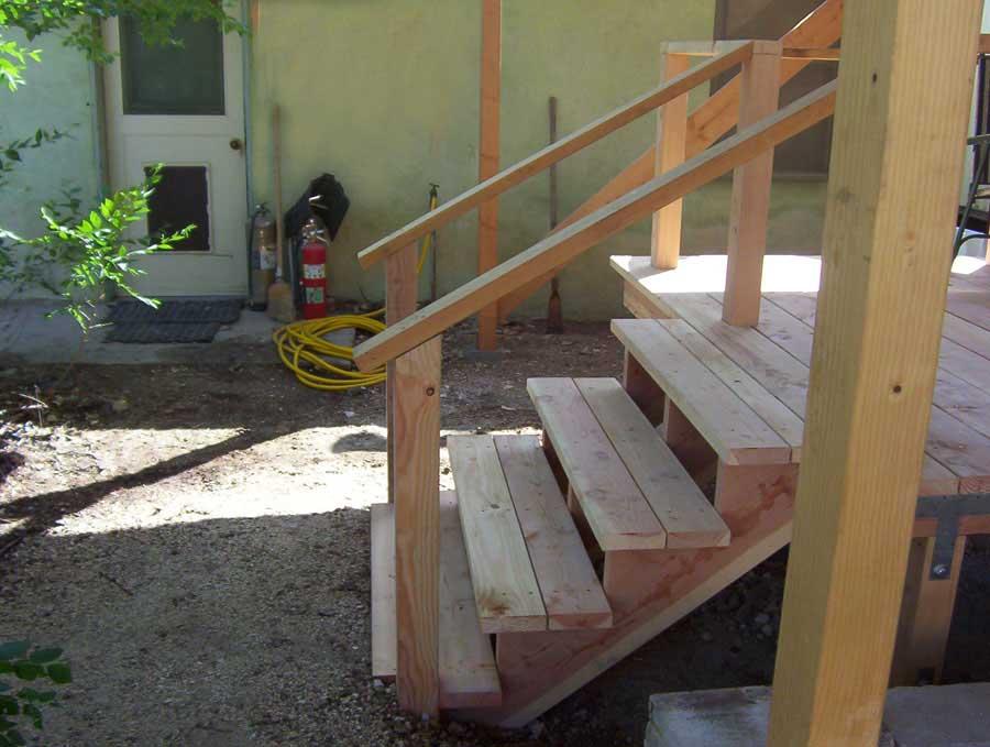 Superior Wooden Patio Steps Designs
